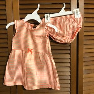 Stripe dress with diaper cover